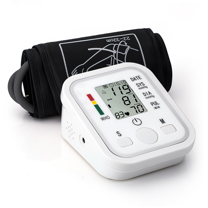 Smart arm electronic sphygmomanometer home blood pressure meter automatic arm monitoring