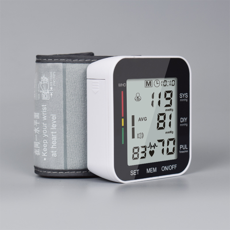 Digital Wrist Blood Pressure Monitor PulseHeart Beat Rate Meter Device Medical Equipment Tonometer BP Mini Sphygmomanometer